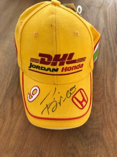 Jordan Honda F1 Racing Team DHL signed cap