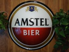 AMSTEL- river of beer. HEINEKEN Corporation. Round advertising-printed on plexi-extruded-round 77cm diameter-convex ca. 10cm.