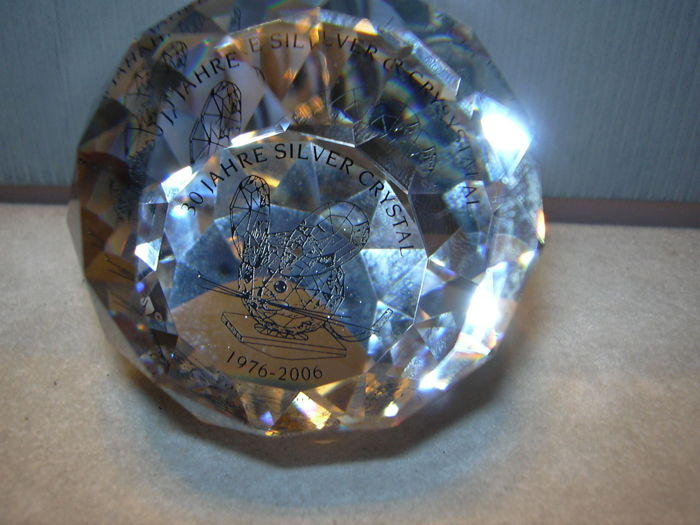 Swarovski - Silver Crystal Paperweight 30 years Silver Crystal