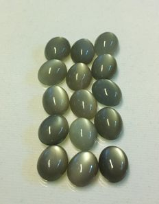 Lot of natural moonstone - 43.68 ct (15)