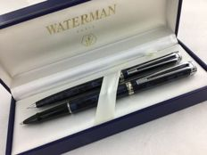 Waterman Harmony Roller with mechanical pencil Brown checkered CT + pouch.
