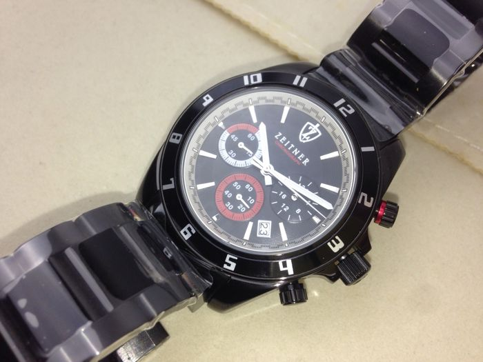 Zeitner - Sports Chronograph Black on Black - Men - 2011-present