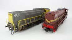 Roco H0 - 4155A/B - 2 Diesel electric locomotives Series 2200