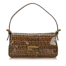Fendi - Zucchino Coated Canvas Baguette