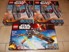 Star Wars - 2x 75101 and 75102 - First Order Special Forces TIE Fighter and Poe's X-Wing Fighter