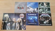 5 Albums made by; Pink Floyd / Guns 'n' Roses / Radiohead / System of a Down / Metallica