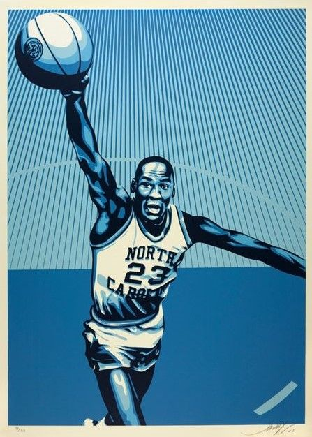 Shepard Fairey (OBEY) - Michael Jordan North Carolina - Large Format