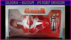 Goldorak + Soucoupe - ufo robot Grendizer - measures 9 cms mint condition