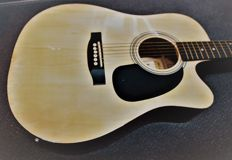 New MP Germany steel string guitar, electro-acoustic, dreadnought, natural