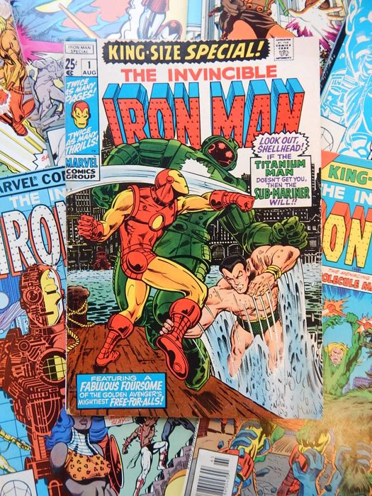 Marvel Comics - The Invincible Iron Man - King-Size Special! #1 + 3 + King-Size Annual! # 5 + 6 + 7 + 8 + 9 - 7x sc - (1970-1987)
