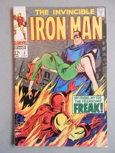 Marvel Comics - The Invincible Iron Man #3 -  1x sc - (1968)