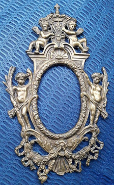 Antique bronze frame, Italian manufacturing from the 19th century