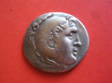 Greek Antiquity - Alexander The Great, AR Tetradrachm - Zeus, Herakles - Aspendos mint, 187/186 BC (15,96 g)