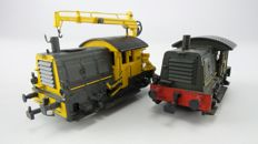 "Roco H0 - 4153A/B - 2 Diesel shunting locomotives Series 200/300 ""Sik"" of the NS"