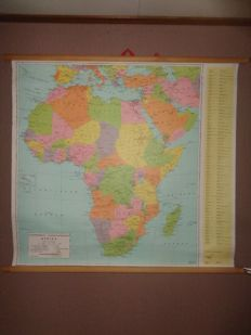 "Old intact state engineer general map / school map of ""Africa"""