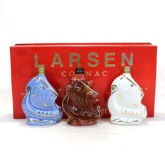 Set of 3 bottles - Cognac Larsen Ship bottles gift set