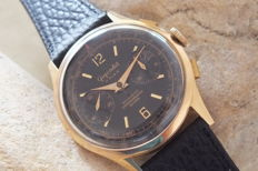 Chrongraphe Suisse - 18K Gold Chronograph Watch  - 1375 - Men - 1950-1959
