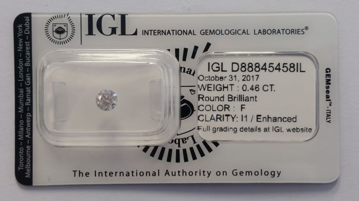0.46ct Diamond Round cut   IGL-No Reserve