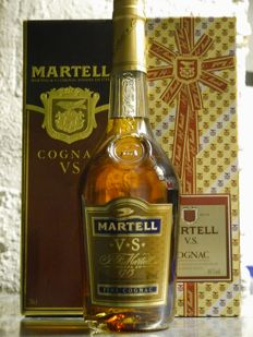 Cognac Martell VS from the 1980s to 1990s - 3 bottles