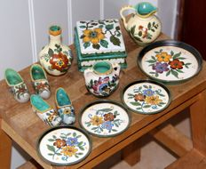 Pottery bakery in South Holland - lot of postwar pottery