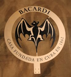 Aluminium advertising sign Bacardi - ca. 1990