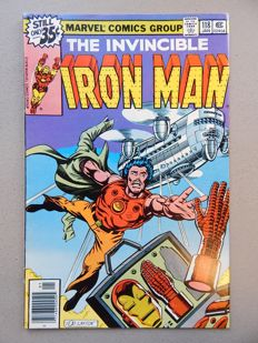 "Marvel Comics - The Invincible Iron Man #118 - 1st Appearance of James ""Rhodey"" Rhodes - 1x sc - (1979)"