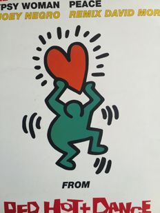 "Keith Haring (after) - ""Red Hot + Dance"""