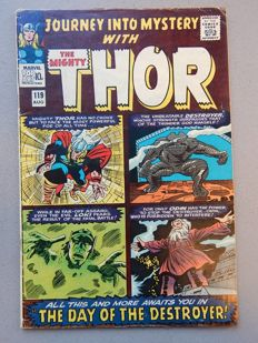 Marvel Comics - Journey into Mystery with the Mighty Thor #119 - with 1st appearance of Warriors Three (Team) + Fandral the Dashing  +  Hogun the Grim + Volstagg  - 1x sc - (1965)