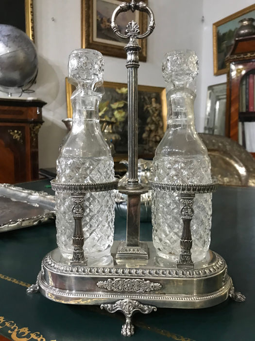 Silver oil and vinegar set - Italy, 20th century
