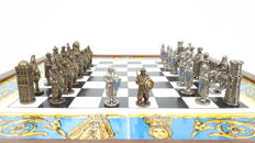 Antique medieval-themed chess