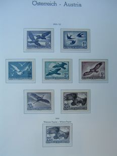 "Austria 1945/2001 - collection, complete including ""birds"" and ""kleinbogen"" (small sheets) in two Leuchtturm albums"