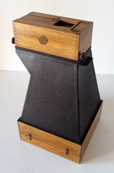 Daylight enlarging view camera by Guillon, Enlarger for stereo plates