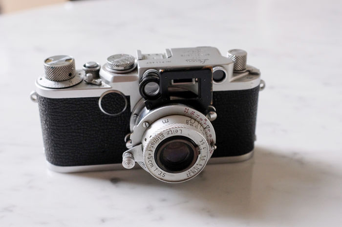 Leica llf 1954 with Elmar f5 and accessories