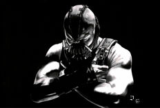 Diego Septiembre - Original Charcoal And Graphite Drawing - Bane (Batman)