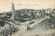 Militaria - lot of 100 postcards on the conflict of 14/18 - battlefields, destroyed villages, military cemeteries, etc...