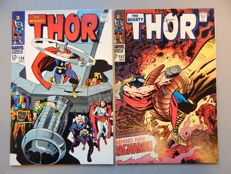 Marvel Comics - The Mighty Thor #156 + #157 - 2x sc - (1968)