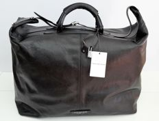 The Bridge - Black Leather Travel Bag