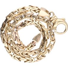 14 kt - Yellow gold king's braid link bracelet - length: 19.5 cm