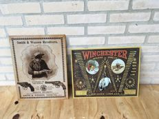 Decorative (air) Gun metal signs WINCHESTER / SMITH & Wesson