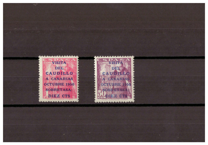 Spain 1950 - Visit of the Caudillo to the Canaries - Edifil 1088/1089