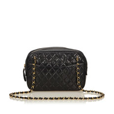 Chanel - Quilted Lambskin Leather Chain Bag