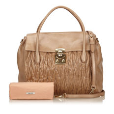Miu Miu - Gathered Leather Handbag