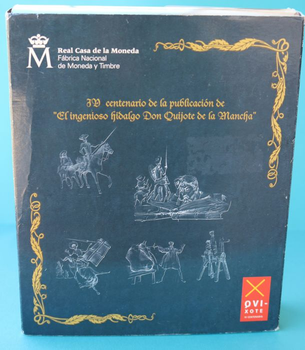 Spain, 2005 collection, 4th centenary of the first edition of the Quixote FNMT proof Only silver's