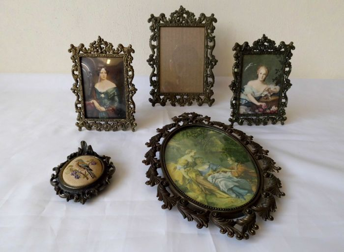Five Bronze Picture Frames Depose Italy Ca 1950 Catawiki