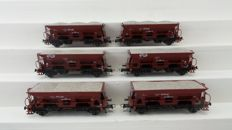 Roco H0 - 44038 - Set with 6 x self discharging gravel wagons of the NS