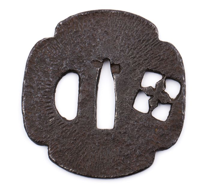 Iron sukashi tsuba  - Japan - 18th century