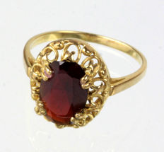 Garnet ring 333 gold Ring size: 60
