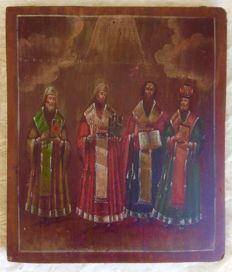 "Russian Icon Icon ""Four Saints"" - 19th century"