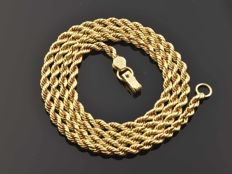"18k Gold Necklace. Chain ""Cord"" - 51 cm. Weight 11.48 g. No reserve price."