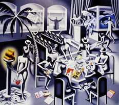 Mark Kostabi - The impossibility of death in the mind of a cash register